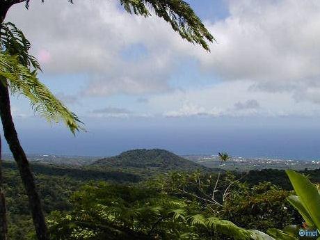 vue des chutes du Carbet, Capesterre Belle Eau