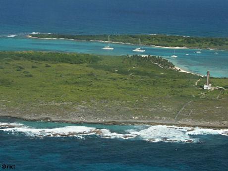 Petite Terre Guadeloupe, vue aerienne